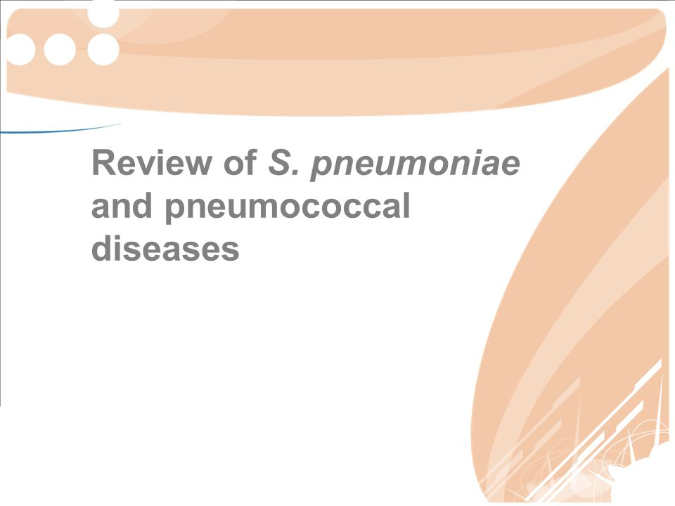 Review of S. pneumoniae and pneumococcal diseases