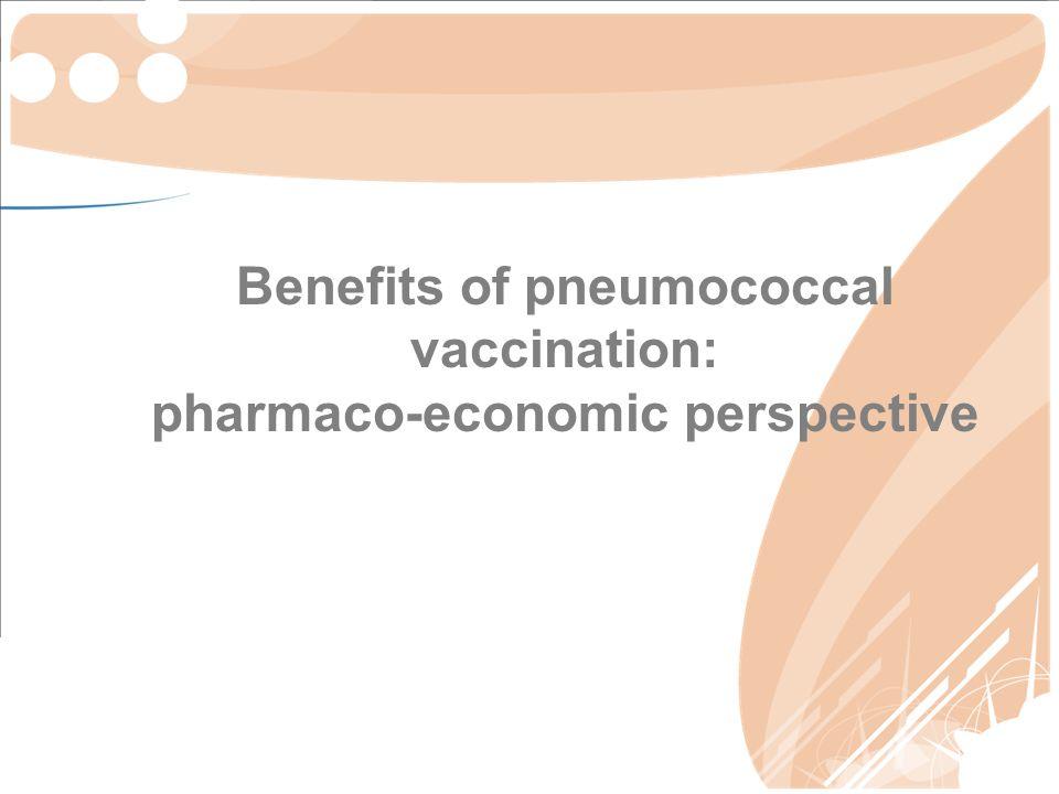 Benefits of pneumococcal vaccination: pharmaco-economic perspective