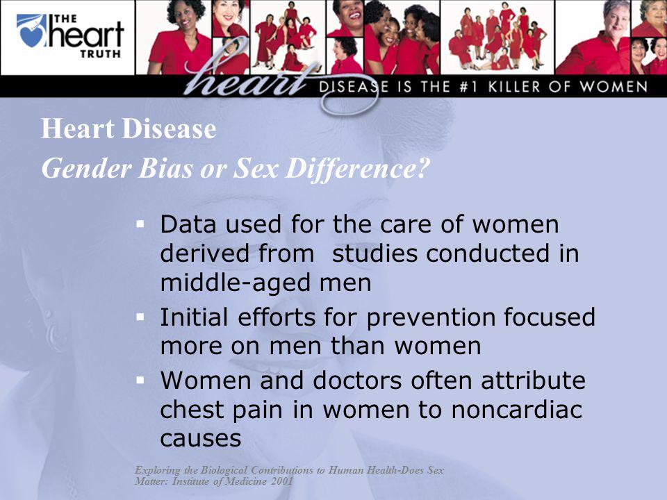 Heart Disease Gender Bias or Sex Difference.