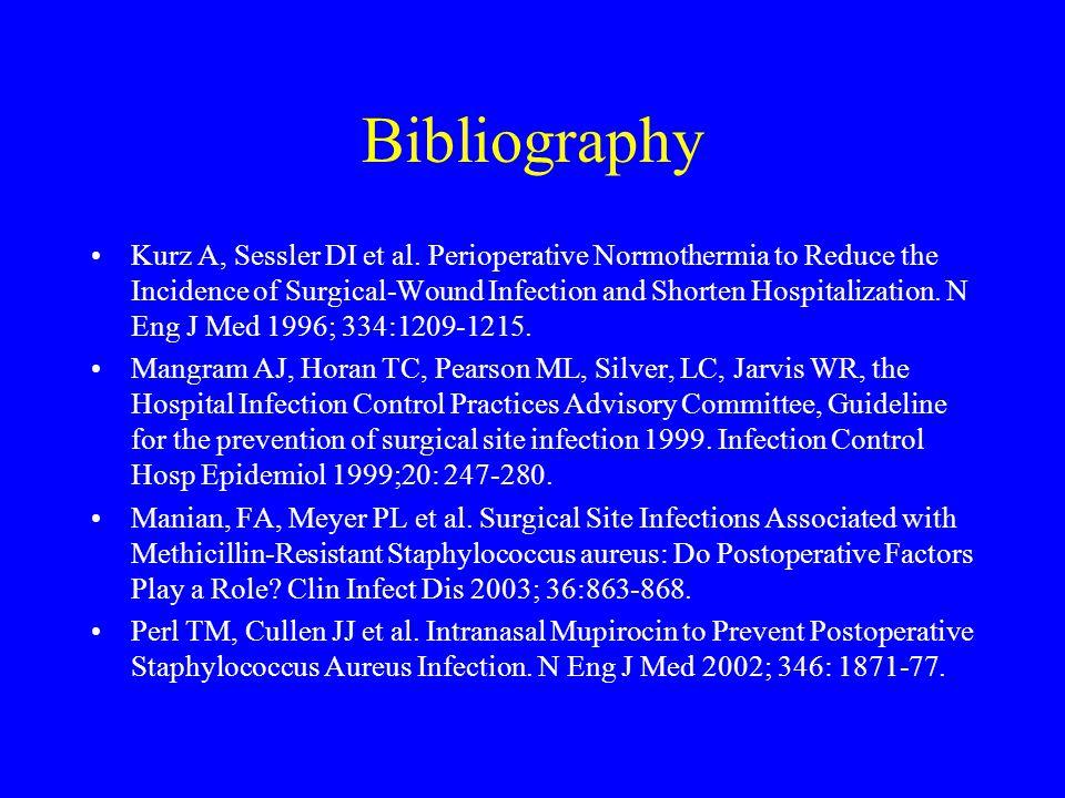Bibliography Kurz A, Sessler DI et al.