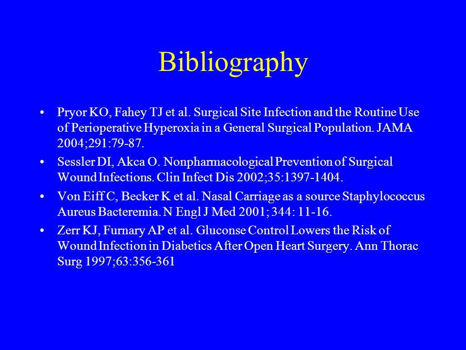 Bibliography Pryor KO, Fahey TJ et al.