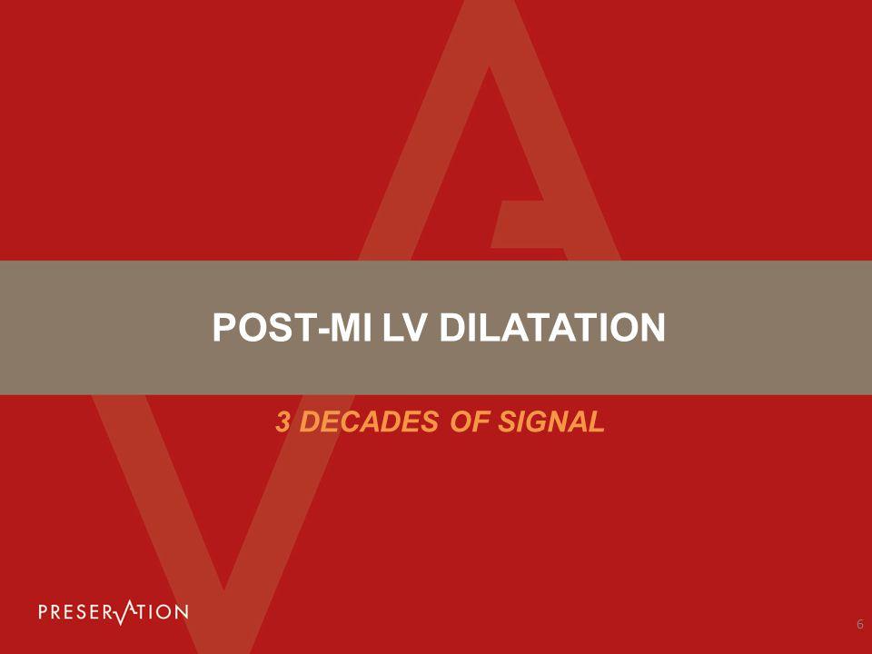 POST-MI LV DILATATION 3 DECADES OF SIGNAL 6