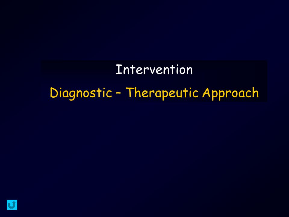 Intervention Diagnostic – Therapeutic Approach