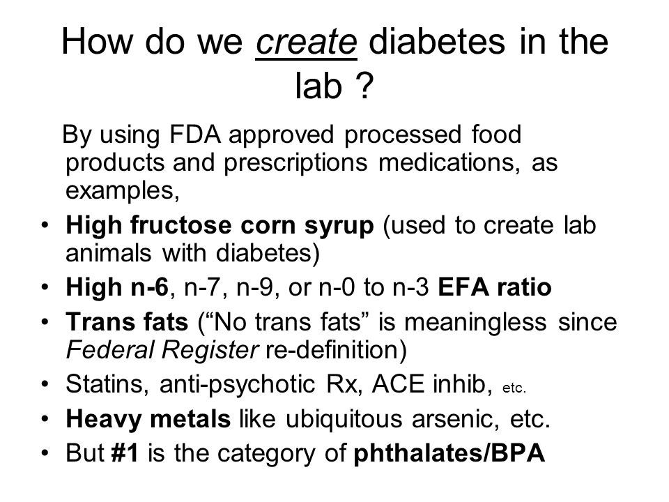 How do we create diabetes in the lab .
