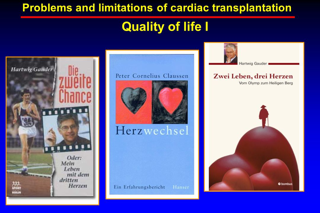 Quality of life I Problems and limitations of cardiac transplantation