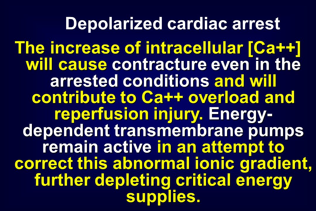 The increase of intracellular [Ca++] will cause contracture even in the arrested conditions and will contribute to Ca++ overload and reperfusion injur