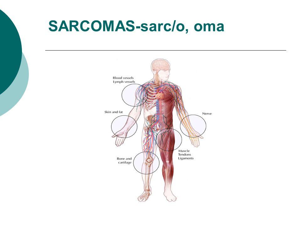 SARCOMAS-sarc/o, oma