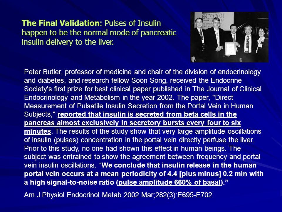 The Final Validation: Pulses of Insulin happen to be the normal mode of pancreatic insulin delivery to the liver.