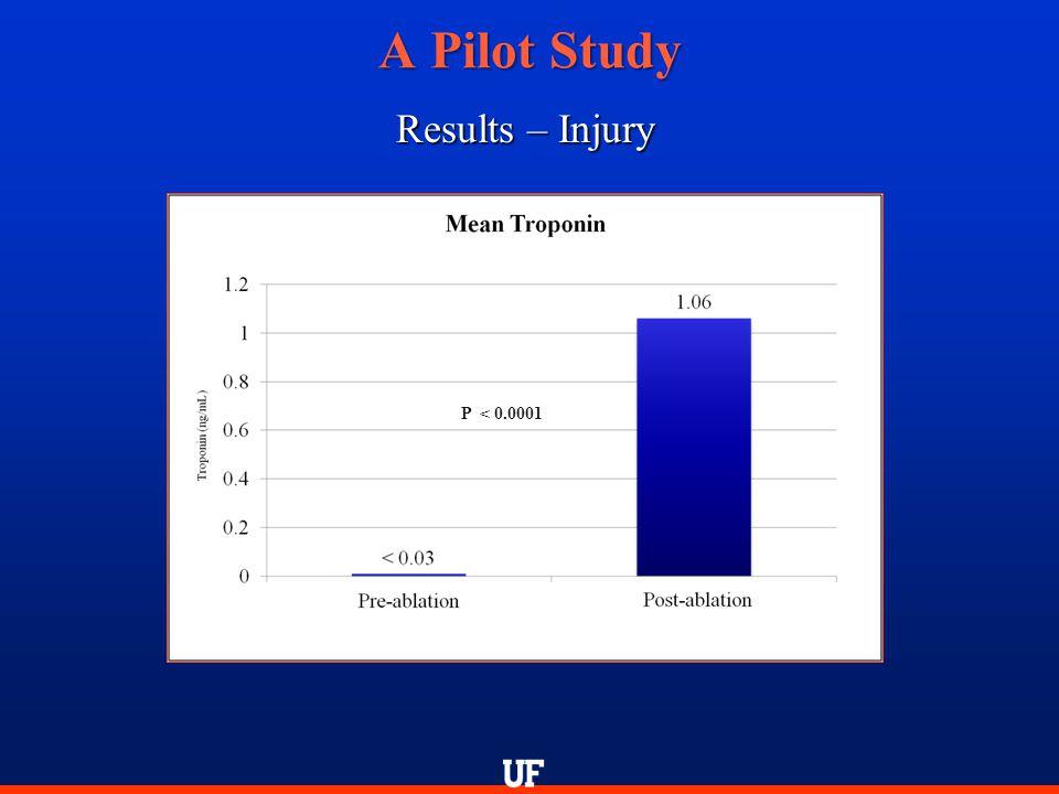A Pilot Study Results – Injury P < 0.0001