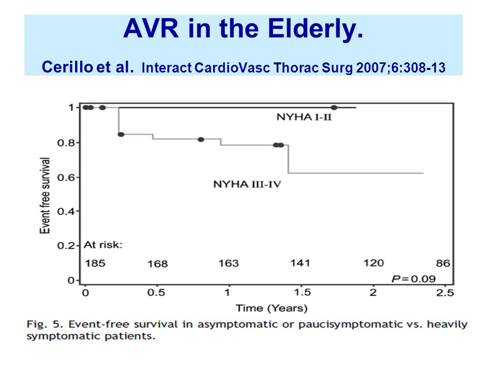 AVR in the Elderly. Cerillo et al. Interact CardioVasc Thorac Surg 2007;6:308-13