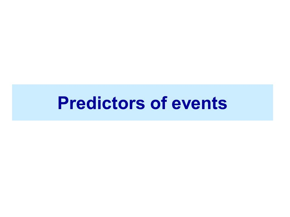 Predictors of events