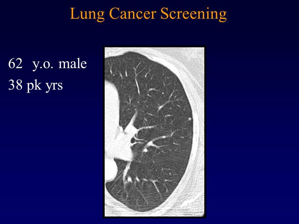 Lung Cancer Screening 62y.o. male 38 pk yrs