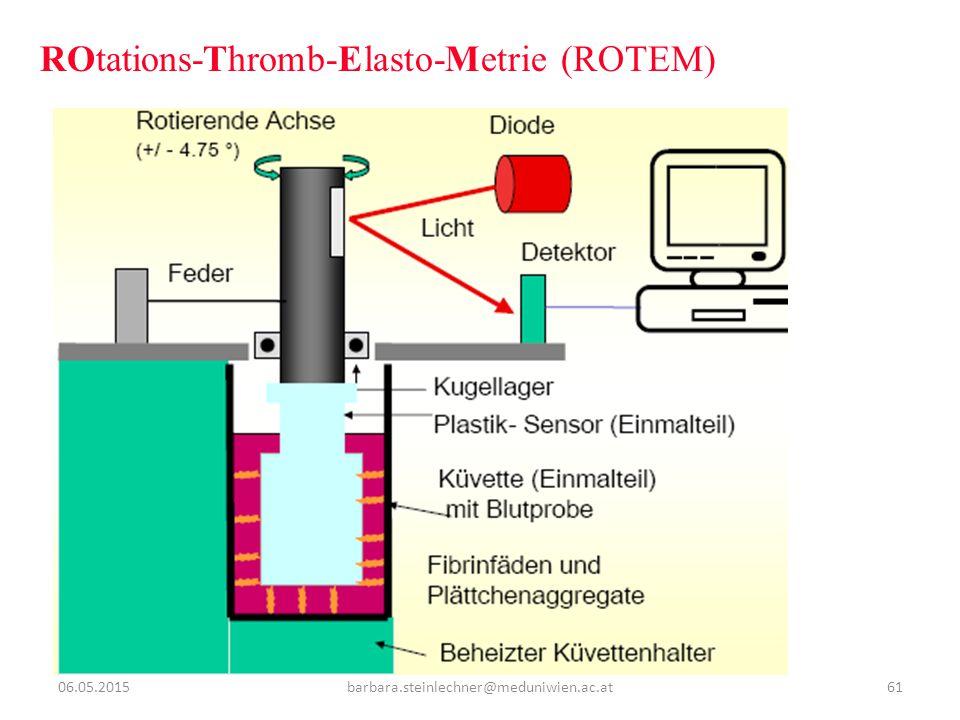 ROtations-Thromb-Elasto-Metrie (ROTEM) 06.05.201561barbara.steinlechner@meduniwien.ac.at