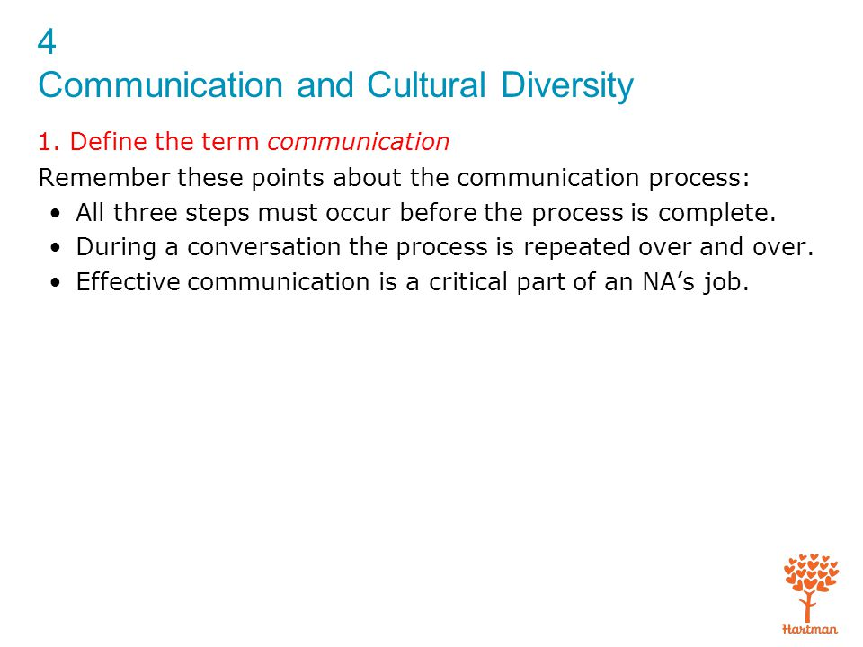 4 Communication and Cultural Diversity 1.
