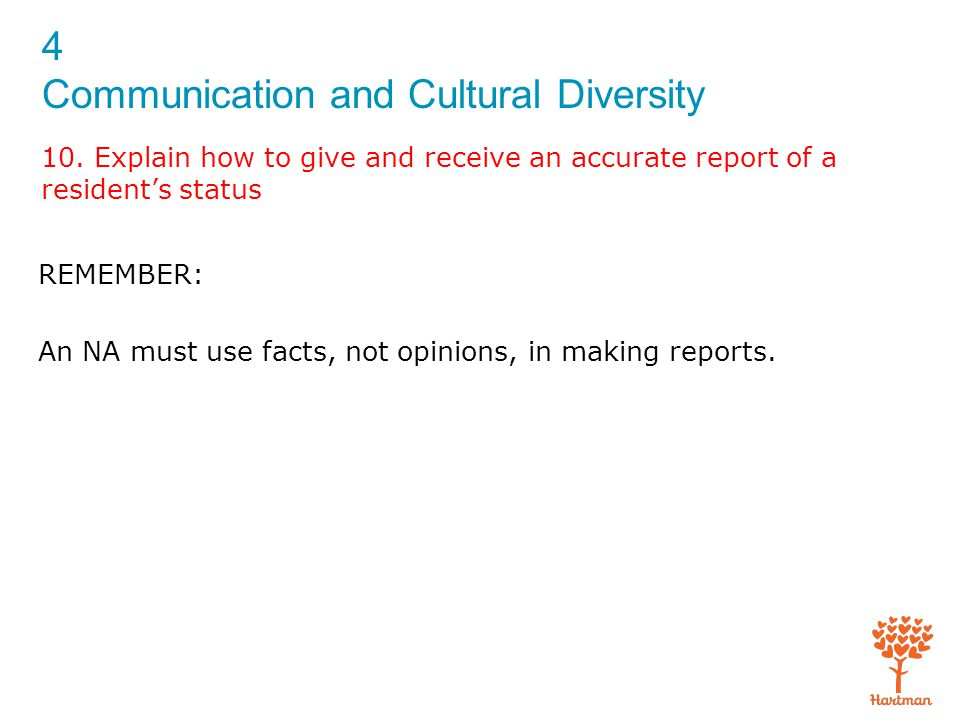 4 Communication and Cultural Diversity 10.