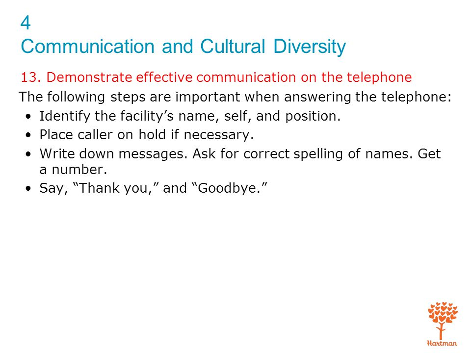 4 Communication and Cultural Diversity 13.
