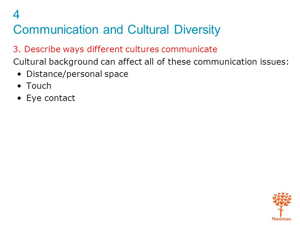 4 Communication and Cultural Diversity 3.