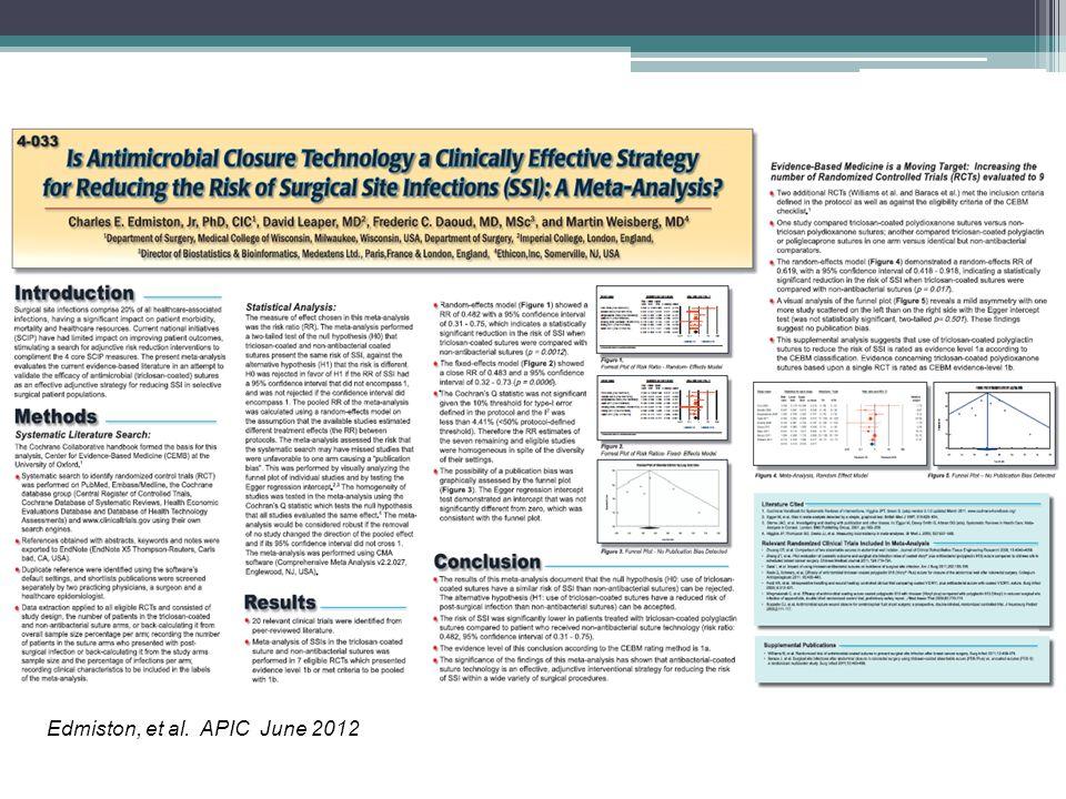 Edmiston, et al. APIC June 2012