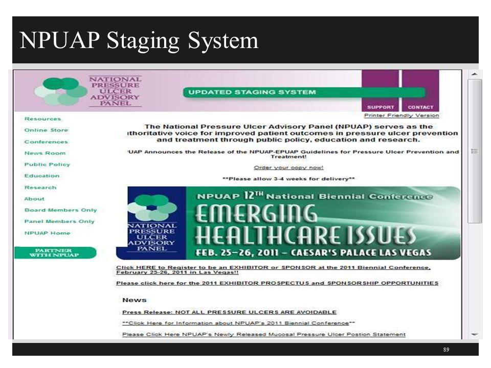 NPUAP Staging System 89