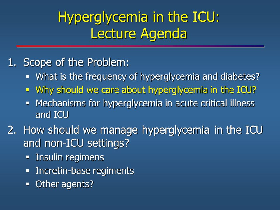 23 5 0 5 10 15 20 25 Insulin Glargine + Insulin Glulisine SSI P<0.001 Percent of patients with hypoglycemia during basal bolus and SSI therapy BG <70 mg/dL BG <60 mg/dL BG <40 mg/dL There were no differences in hypoglycemia between patients treated with insulin prior to admission compared to insulin-naïve patients.