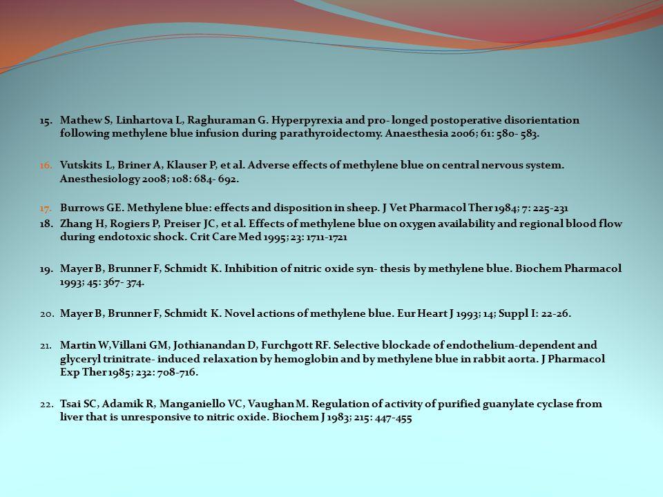 15.Mathew S, Linhartova L, Raghuraman G.