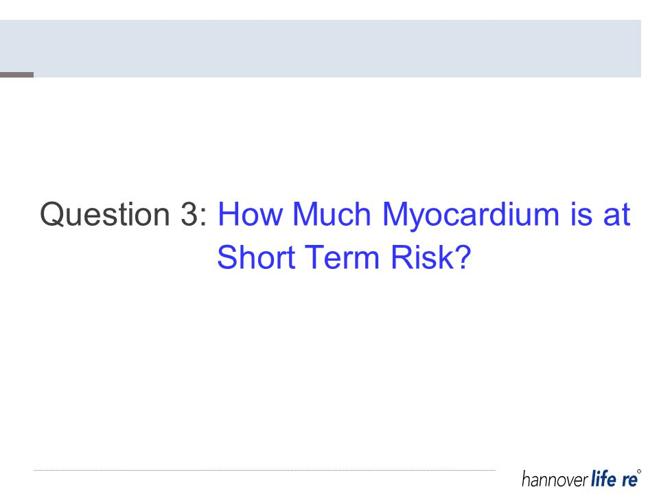 Question 3: How Much Myocardium is at Short Term Risk
