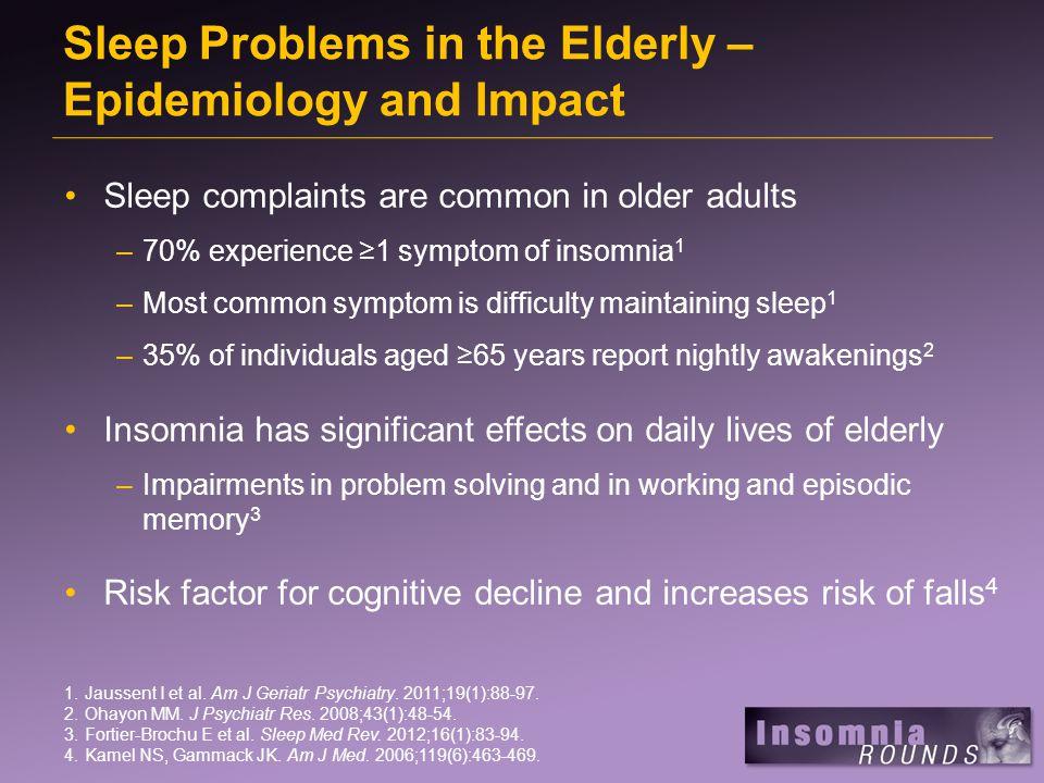 Primary Sleep Disorders in the Elderly 1.Eckert DJ, Malhotra A.
