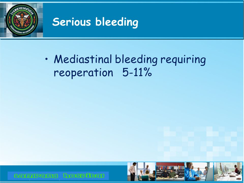 Thromboembolism and Bleeding Major causes of thromboembolism –Interrupted anticoagulant or inadequate INR High risk group*: –Prior embolic complications –AF –Left atrial thrombus –Recent operation ( first operative year ) –Operation before the mid 1970s
