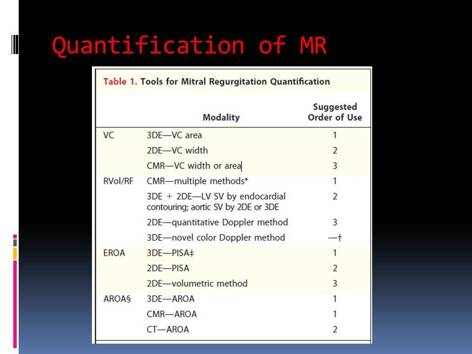 Quantification of MR