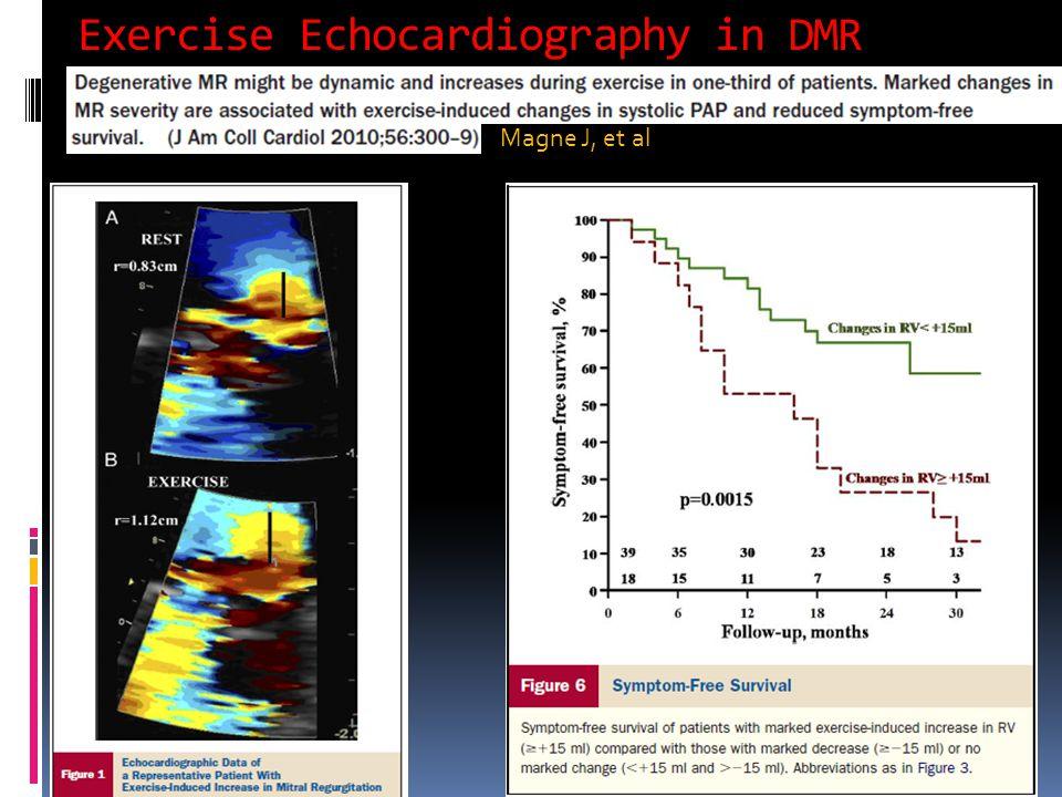 Exercise Echocardiography in DMR Magne J, et al