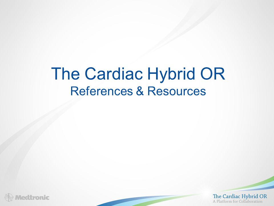 The Cardiac Hybrid OR References & Resources