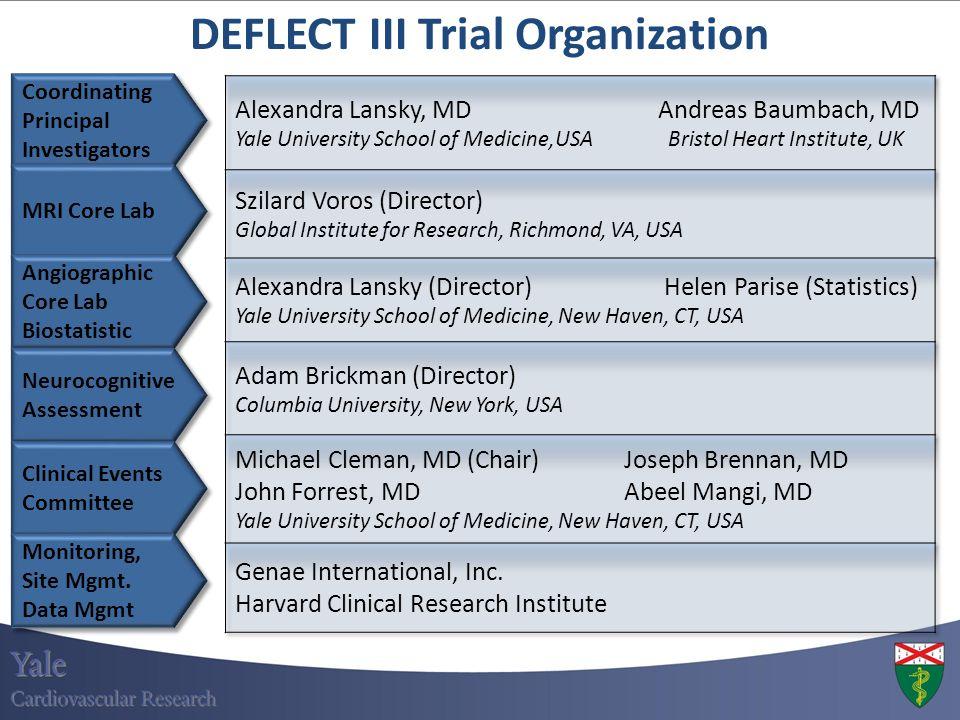 Coordinating Principal Investigators Coordinating Principal Investigators DEFLECT III Trial Organization MRI Core Lab Angiographic Core Lab Biostatist