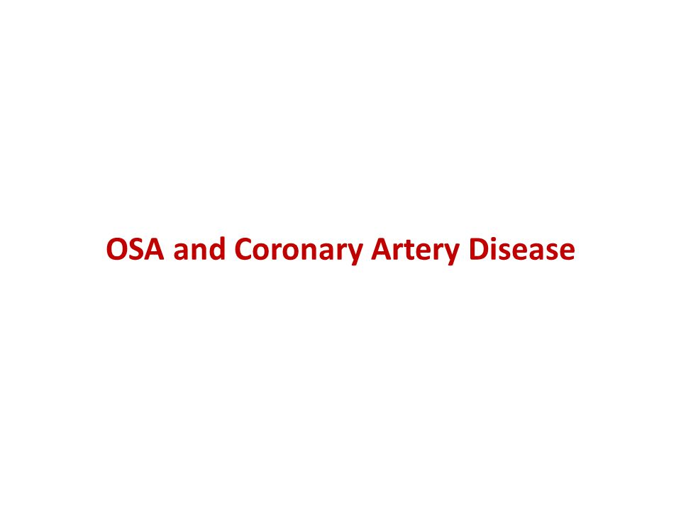 OSA and Coronary Artery Disease