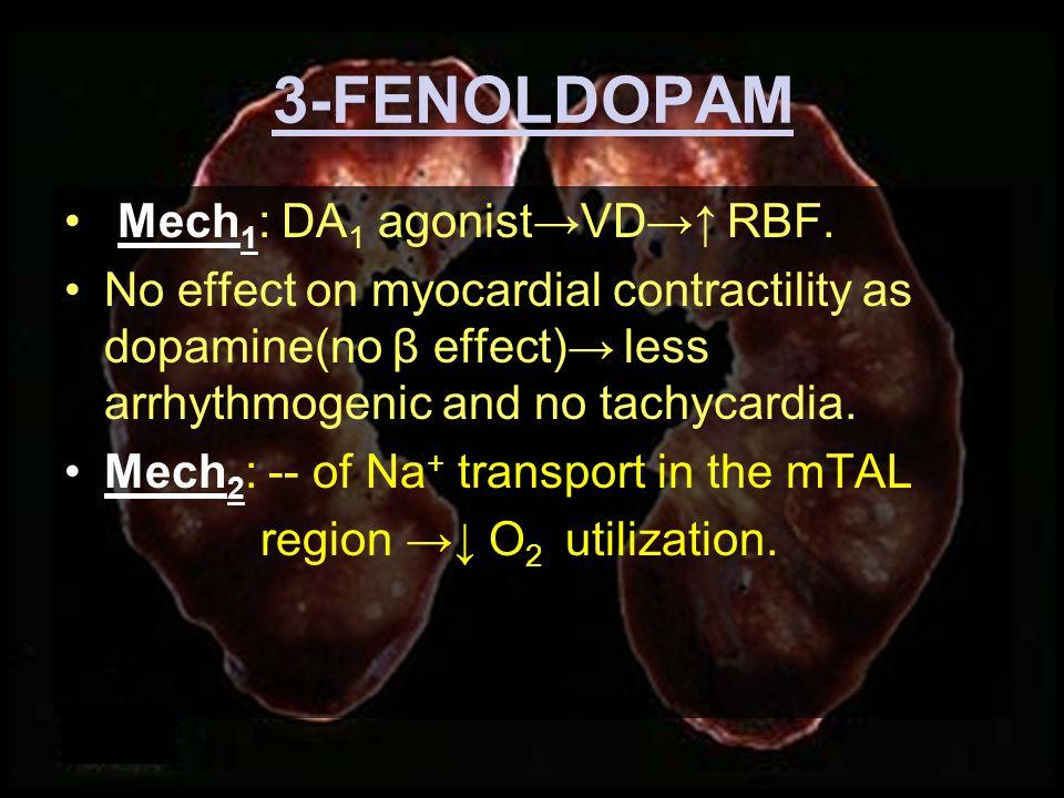 3-DOPAMINERGIC DRUGS FENOLDOPAM Selective DA 1 agonist.