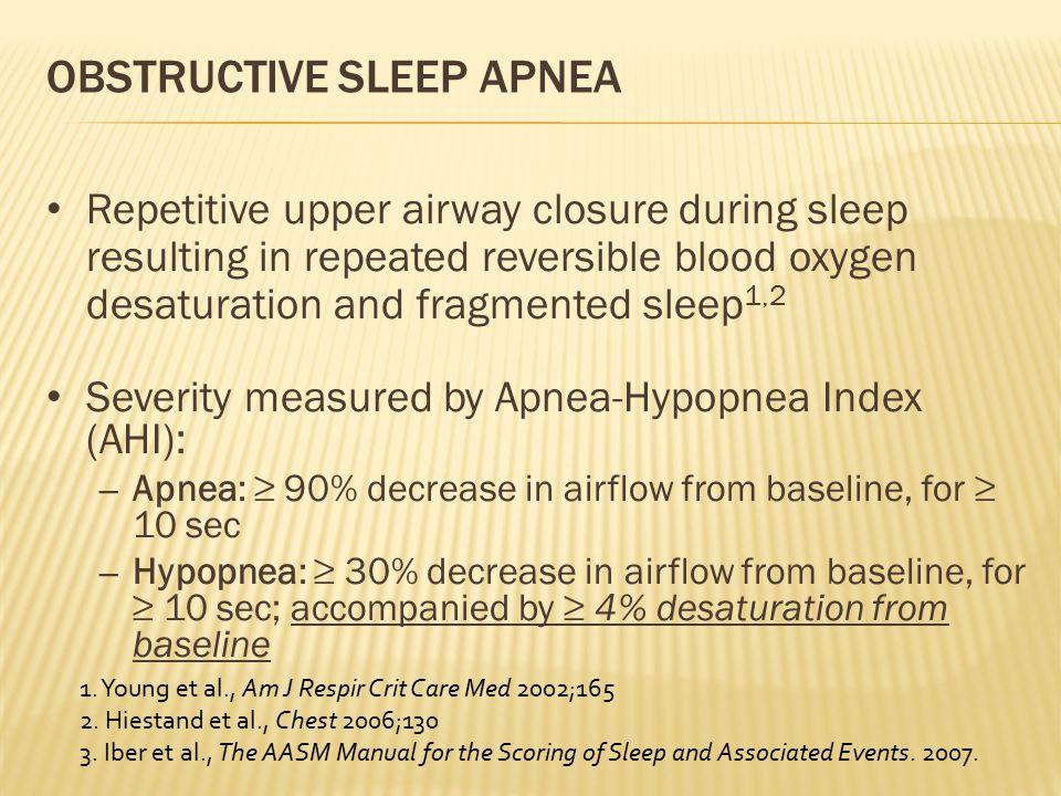 OSA: 2-MIN EPOCH OF SLEEP STUDY