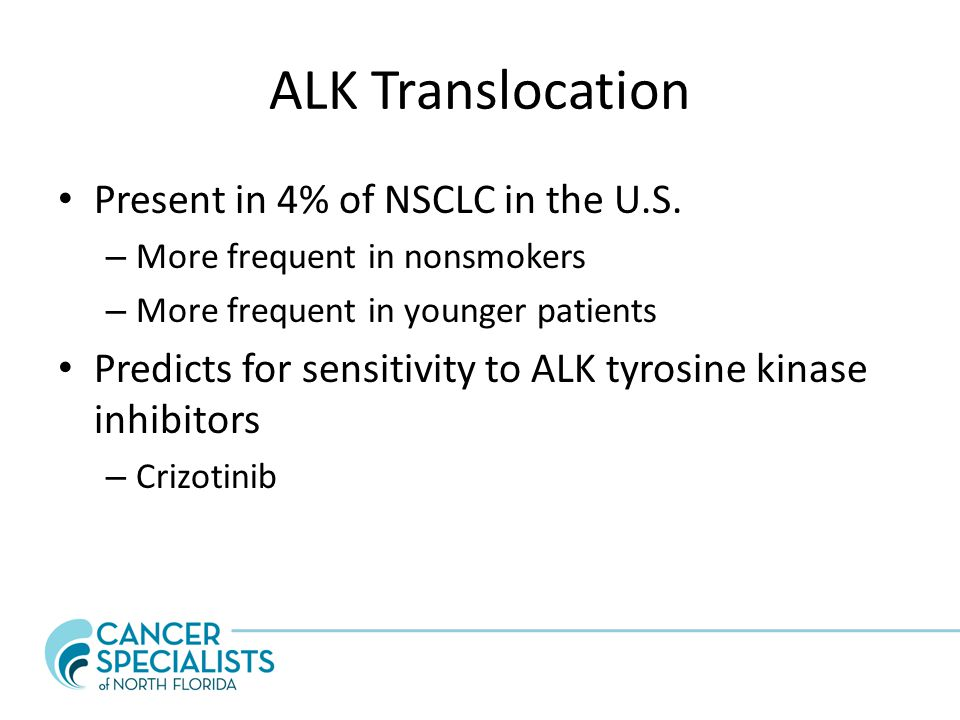 ALK Translocation Present in 4% of NSCLC in the U.S.