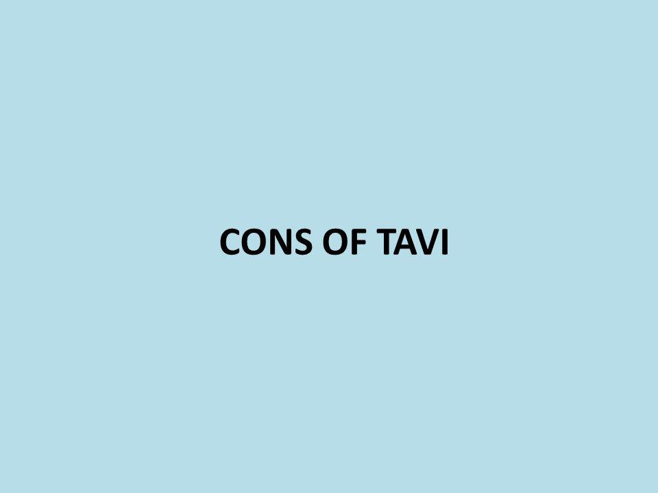CONS OF TAVI