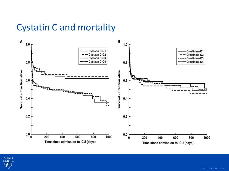 ©2013 MFMER | slide-7 Cystatin C and mortality Bell et al. Nephrol Dial Transplant (2009) 1 of 7