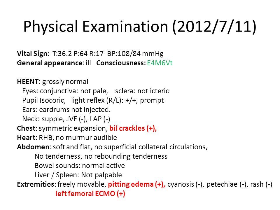 Treatment Course AlbuminFibrinogenTransfusionaPTT/INRHeparin 2012-7-233.5267.4 ﹡ 2012-7-26 129.8/23.7155037.3/1.09 ﹡ 2012-7-28 134.887033.9/1.110 2012-07-2998.931.0/1.220 ﹡ 2012-7-30 3.0112.978031.4/1.130 ﹡ 2012-8-01 72189031.7/1.040 ﹡ 2012-8-4 2.4198.145029.9/0.990 ﹡ 2012-8-7 152.440049.5/1.230 ﹡ 2012-8-10 1.993.681029.3/1.100 ﹡ 2012-8-14 2.4 / 36.773036.4/1.480 2012-8-1656.835.9/1.400