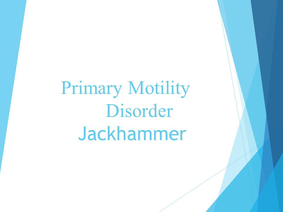 Primary Motility Disorder Jackhammer