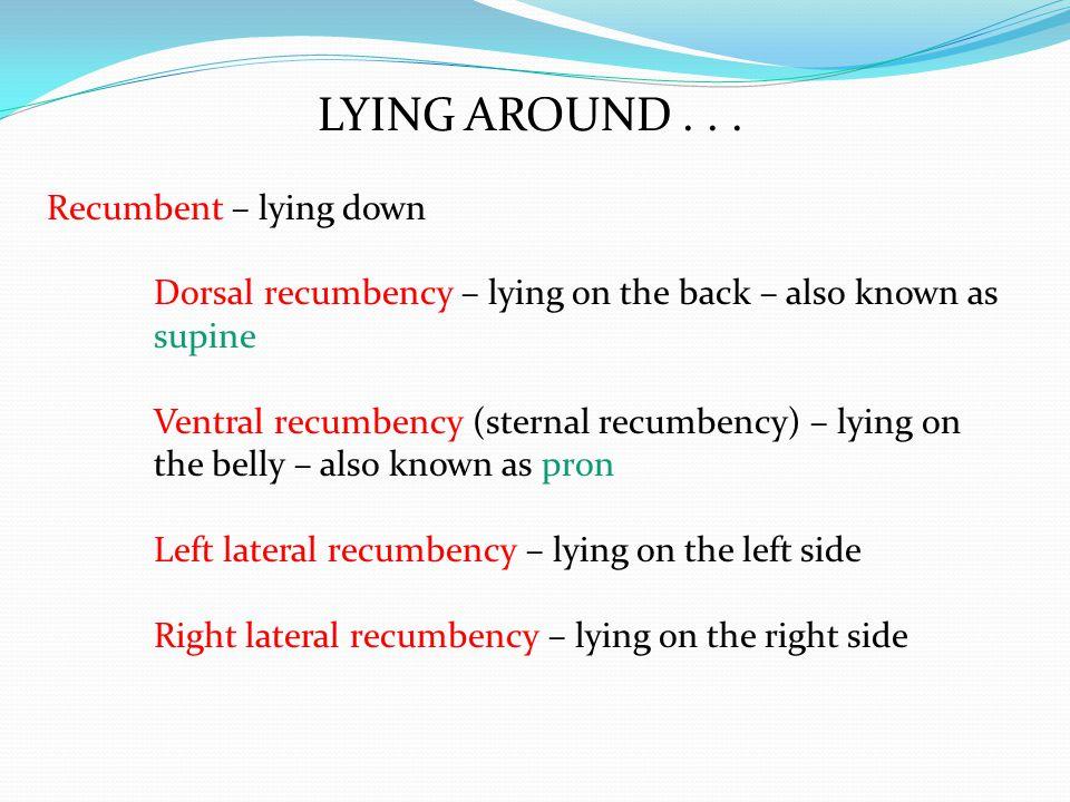 LYING AROUND...