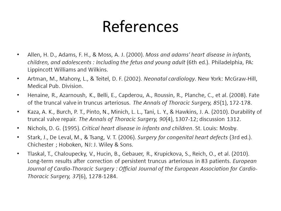 References Allen, H.D., Adams, F. H., & Moss, A. J.