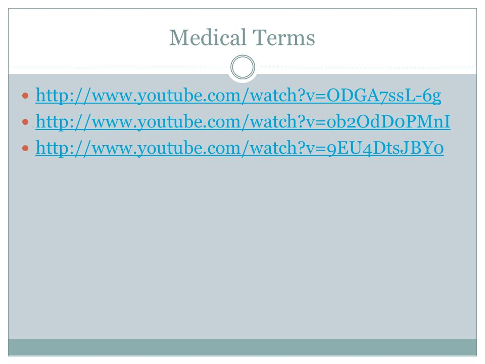 Medical Terms Medical Terms are composed of word part combinations consisting of:  Prefix  Root  Combining vowel  Suffix