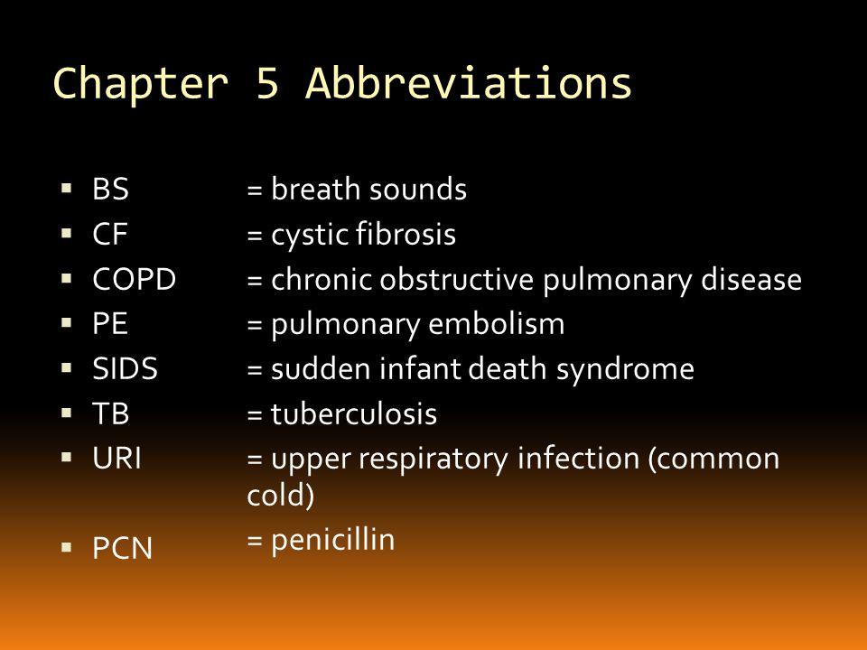 Word Parts for Respiratory System Combining FormDefinition  pharyng/o  pleur/o  pneum/o, pneumon/o  pulmon/o  sept/o  sinus/o  thorac/o  tonsill/o  trache/o  pharynx  pleura  lung, air  lung  septum (wall of, fence)  sinus  thorax (chest)  tonsil  trachea