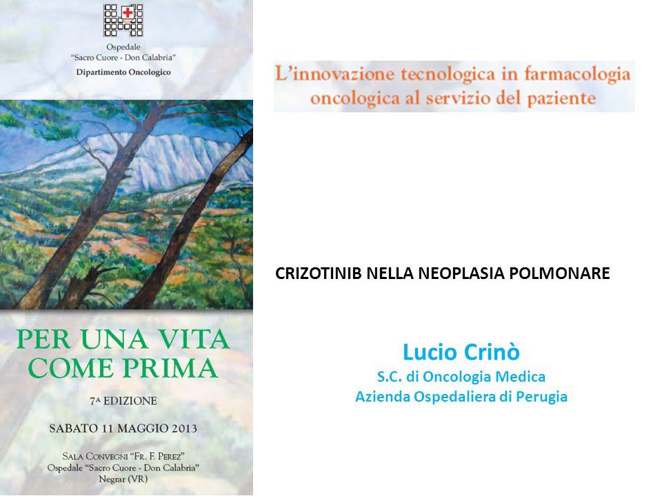 CRIZOTINIB NELLA NEOPLASIA POLMONARE Lucio Crinò S.C.