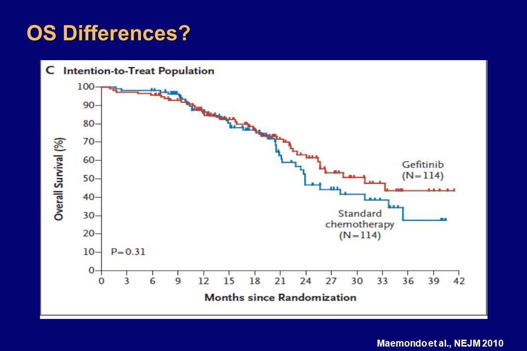 OS Differences? Maemondo et al., NEJM 2010