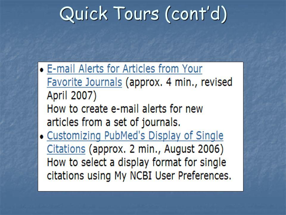 Quick Tours