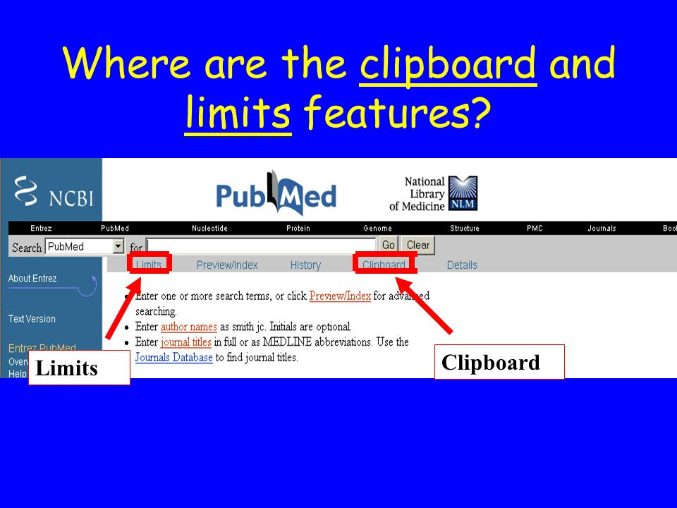 Where are the clipboard and limits features? Limits Clipboard