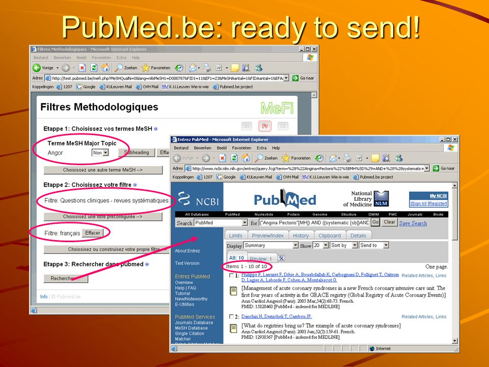 PubMed.be: ready to send!