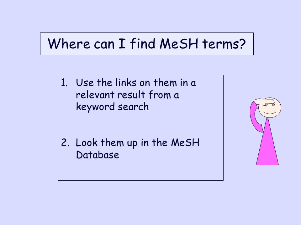 Where can I find MeSH terms.